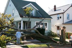 a house after a hurricane