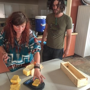8 west residents making soap