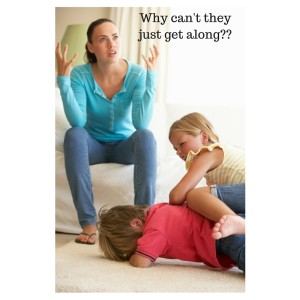 frustrated parent with kids engaging in misbehavior