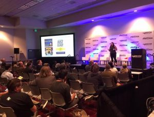 colleen mullen on stage at NAB SHow 2019